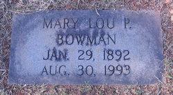 Mary Lou <I>Prestwood</I> Bowman