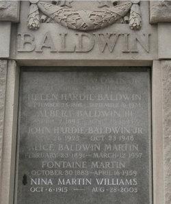 Helen <I>Hardie</I> Baldwin