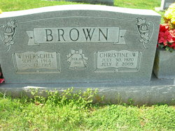 Christine <I>Brown</I> Thompson