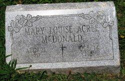 Mary Louise <I>Acree</I> McDonald