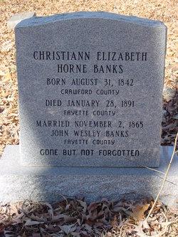 Christiann Elizabeth <I>Horne</I> Banks
