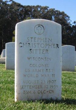 COL Steven Christopher Sitter