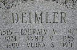 Annie V <I>Fisher</I> Deimler