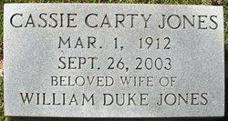 Cassie <I>Carthy</I> Jones