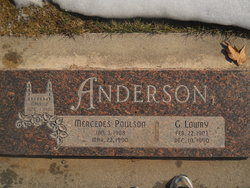 Mercedes <I>Poulson</I> Anderson