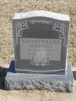 Kathryn <I>Goff</I> Albright