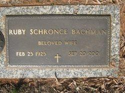 Ruby Ann <I>Schronce</I> Bachman