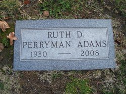 Ruth D <I>Perryman</I> Adams