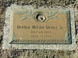 Harold Watson Gowdy Sr.