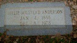 Dillie Ophelia <I>Milstead</I> Anderson