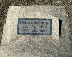 Bertha A <I>Wollny</I> Rabenaldt