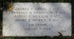 SSGT George E Adams
