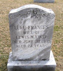Lulu Frances <I>Summers</I> Kintz