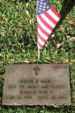 John B Merz