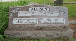 Lora Elizabeth <I>Putman</I> Allison
