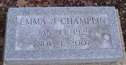 Emma Jane <I>Schaich</I> Champlin