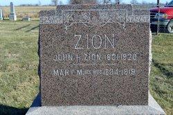 Mary Margaraet Ann <I>Cossel</I> Zion