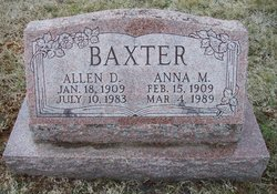 Anna M <I>Ranck</I> Baxter
