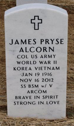 Col James Pryse Alcorn