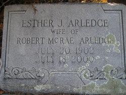 Esther Mae <I>Jordan</I> Arledge