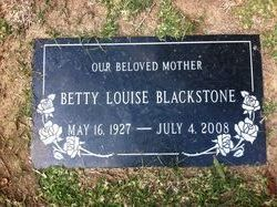 Betty Louise Blackstone
