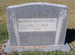 "Martha Frances ""Fanny"" <I>Rice</I> Cook"