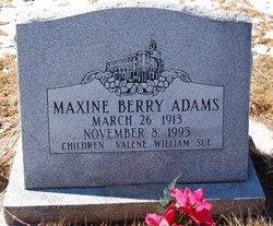 Maxine <I>Berry</I> Adams