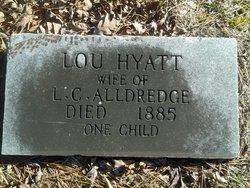 """Lucinda """"Lou"""" <I>Hyatt</I> Alldredge"""