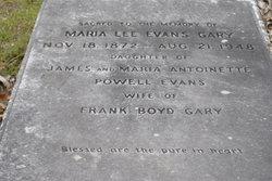 Maria Lee <I>Evans</I> Gary