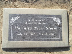 Marinita Lucille <I>Tevis</I> Storm