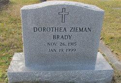 Dorothea <I>Zieman</I> Brady