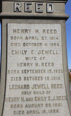 Emily Elizabeth <I>Jewell</I> Reed
