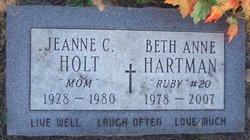 """Beth Anne """"Ruby"""" Hartman"""