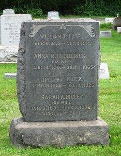 Sarah A. <I>Bigley</I> Lutz