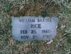 William Baxter Rice, Sr