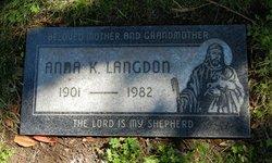 "Anna ""Katherine"" <I>Brandt</I> Langdon"