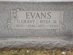 Rosa May <I>Clantz</I> Evans
