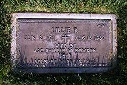 Lillie Rhue <I>Guthrie</I> Cowden