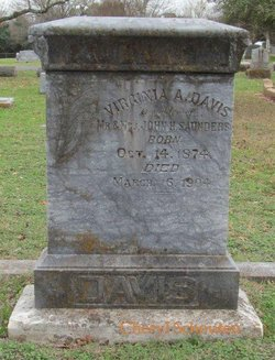Virginia A. <I>Saunders</I> Davis