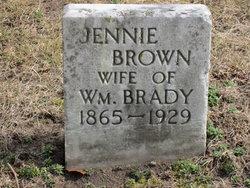 Jennie <I>Brown</I> Brady