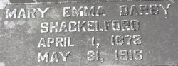 Mary Emma <I>Darby</I> Shackelford