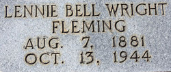 Lennie Bell <I>Wright</I> Fleming
