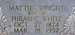 Mattie <I>Wright</I> White