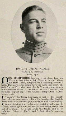 """Dwight Lyman """"Babe"""" Adams"""