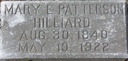 Mary E. <I>Patterson</I> Hilliard