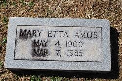 Mary Etta <I>Boone</I> Amos