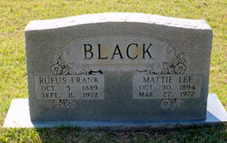 Mattie <I>Lee</I> Black