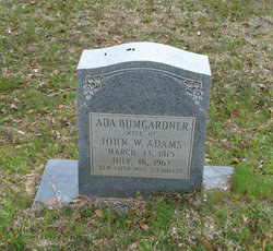 Ada Rebecca <I>Bumgardner</I> Adams