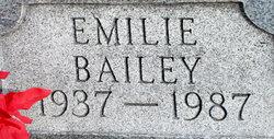 Emilie M <I>Morrell</I> Bailey