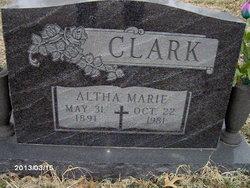 Altha Marie <I>Jennings</I> Allenbrand Clark